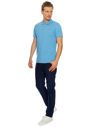 Limon Company Polo Yaka Tişört Mavi
